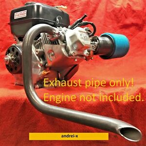 Mini Bike Custom Exhaust Header Pipe For Predator 212cc Honda