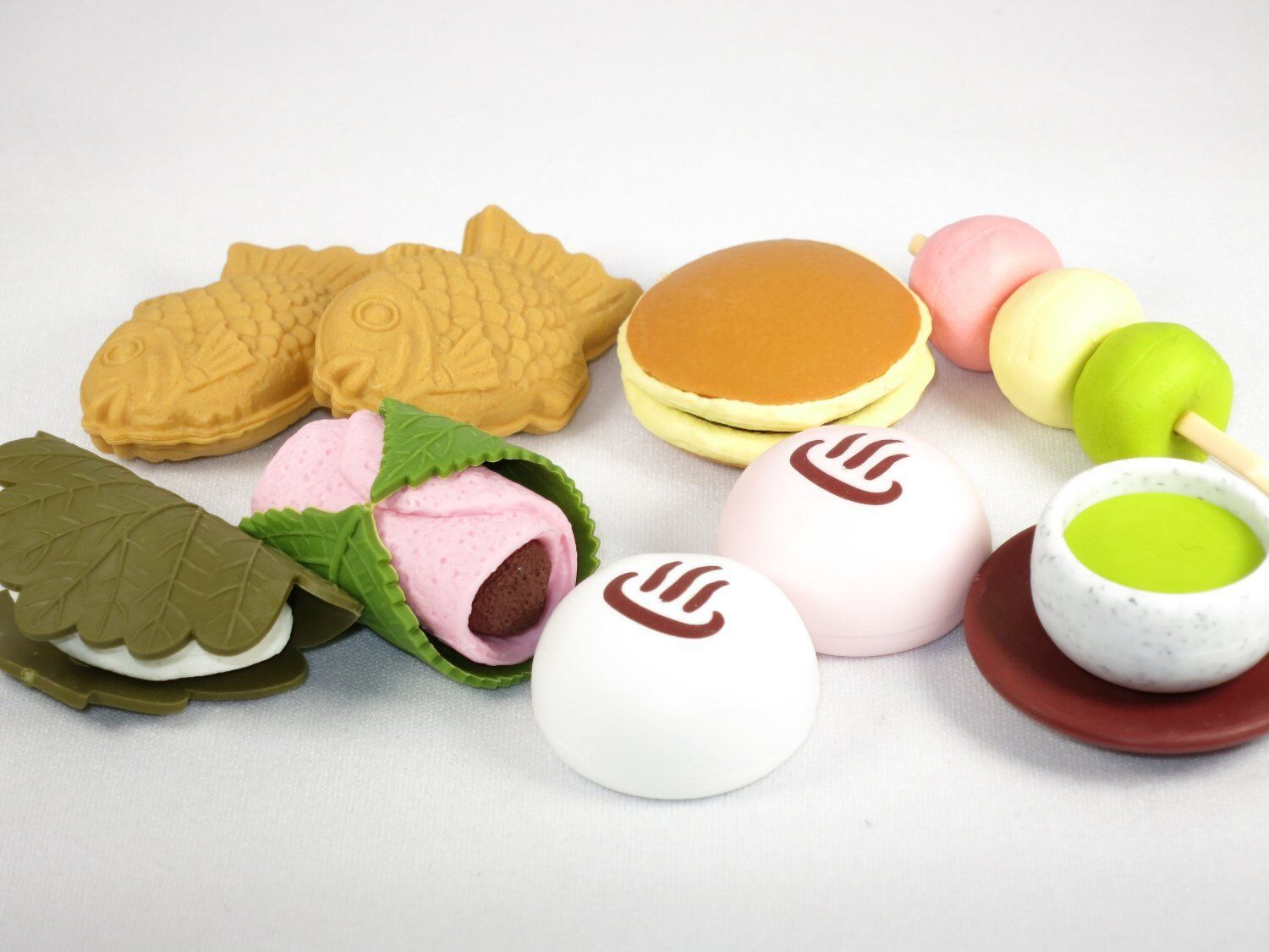 IWAKO Puzzle Eraser   Japanese Sweets 60pcs (9 Coloreees)   Made in Japan