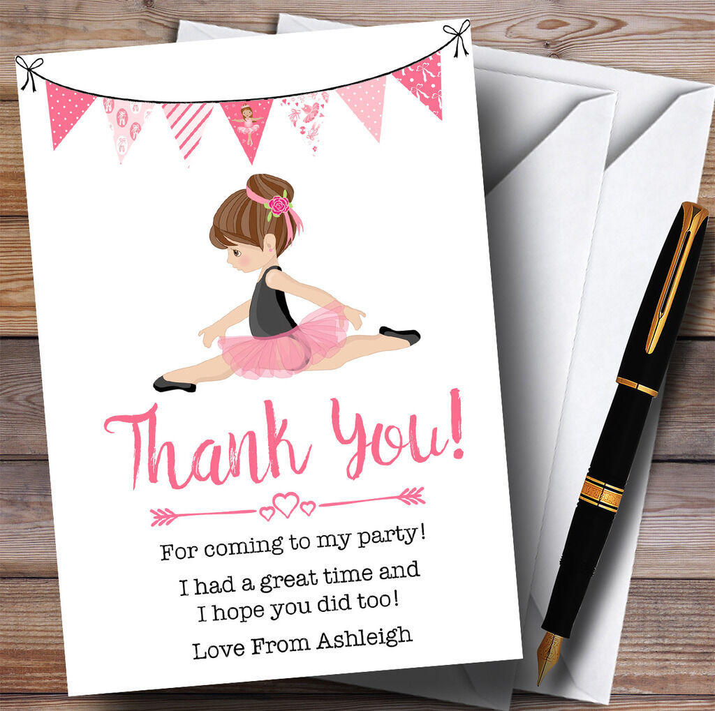 Cute Ballerina Ballet Party Party Party Thank You Cards f31985