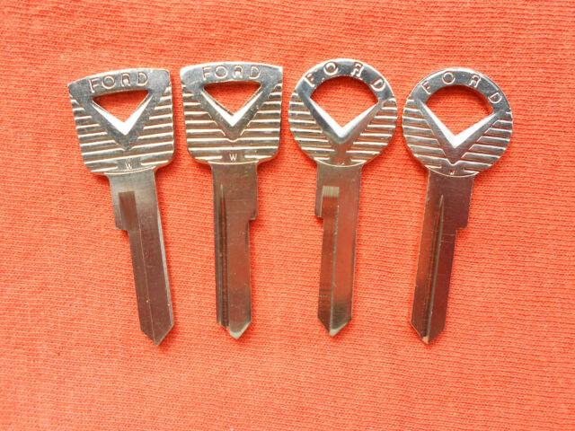 4 Old Vintage Ford Muscle Car Oem Key Blanks 59 60 61 62 63 64 Ebay