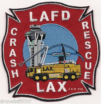 "*NEW STYLE*  Los Angeles - L.A.X.  Crash - Rescue, CA (4"" x 4"" size)  fire patch"
