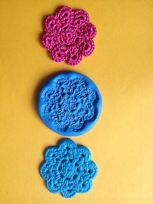 CROCHET DOLLIE Mould Cupcakes Chocolate Sugarcraft Cake Topper  Fimo