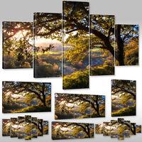 Leinwandbild Canvas Wandbilder Kunstdruck Natur Landschaft Bäume Wald Ackerfeld