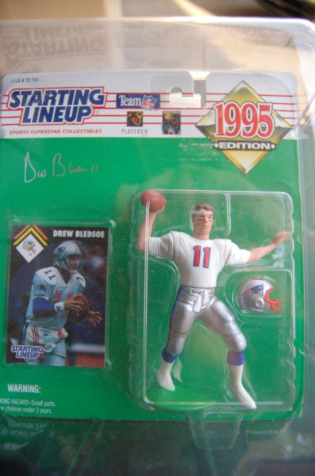 1995 Starting Lineup SLU NFL Drew Bledsoe SIGNED New England Patriots RARE