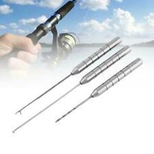 4Pcs Fishing Rigs Needle Kit Bait Needle Set Hook Drill Baiting Rig Tool Car JR