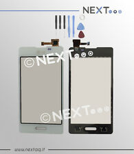 Vetro touch screen per schermo display LG OPTIMUS L5 II E460 BIANCO+kit