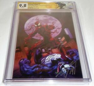 Absolute-Carnage-1-CGC-SS-Signature-Autograph-9-8-BAGLEY-CATES-STEGMAN-Variant