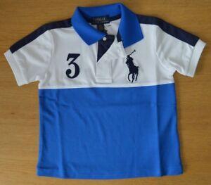 Ans D'origine Sur White Enfants Garçons Le Titre 6 Lauren Polo Tech Détails Blue Maille Ou Afficher Ralph Shirt 2 0nPkwO