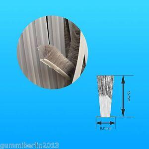 b rstendichtung f r schiebet ren glast ren selbstklebend 15mm borsten ab 1 m ebay. Black Bedroom Furniture Sets. Home Design Ideas