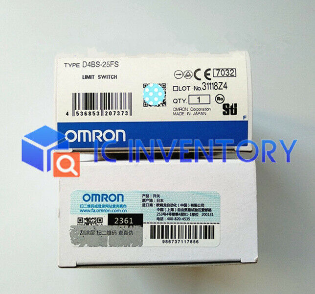 New Omron Limit Switch D4BS-25FS D4BS-25FS