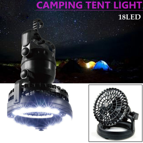 Outdoor Camping Tent LED Light Lantern With Fan Gear Equipment R3L1 Foldable NEW