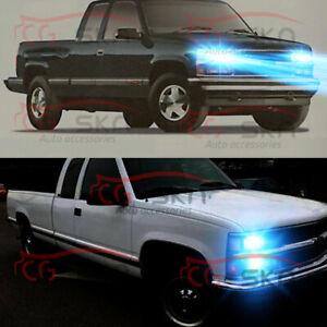 mini 9005+9006 LED Headlight 8000K Ice Blue for Chevy Silverado Tahoe 1999-2006