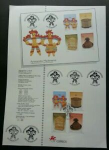 SJ-Portugal-Craft-of-Wood-1995-Art-Toy-stamp-on-info-sheet-2-pages