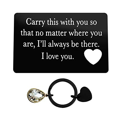 Engraved Wallet Insert Card for Boyfriend Husband Anniversary Card Gifts for Him