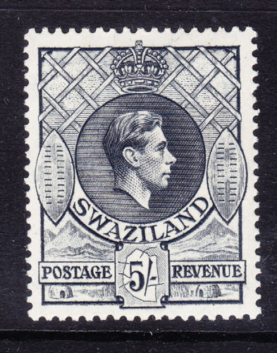 SWAZILAND George VI 1944 SG37b 5 grey P1312 x 14 mounted mint cat 50