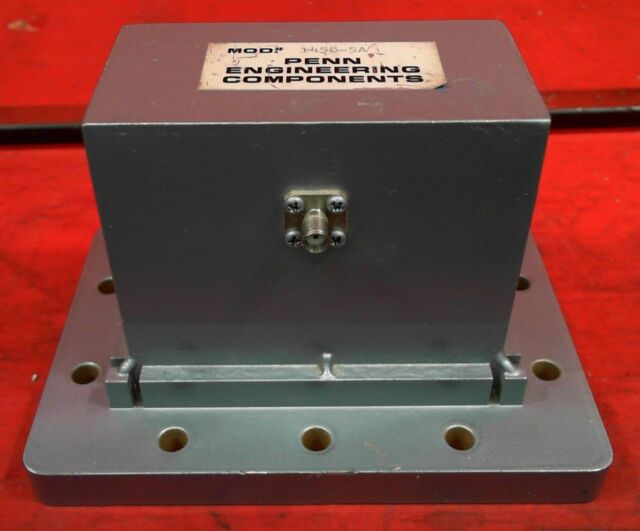 Penn Engineering 1434-YB-NB WR42 to SMA adapter f Frequency 18.0-26.5 GHz