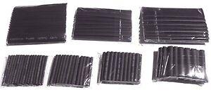 Mixed pack Black Heatshrink 1 meter each of 2-13mm sizes - total 7 meters.