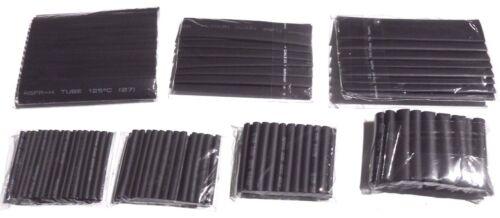 Mixte Pack Black Heatshrink 1 M chaque 2-13 mm Tailles - 7 m total