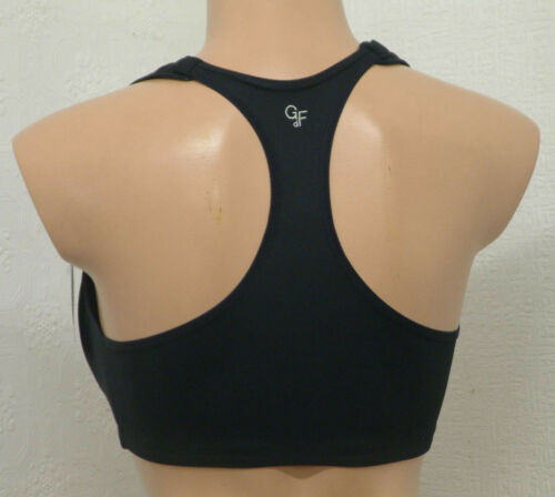 FRONT FASTENING SPORTS BRA  IN WHITE /& BLACK GUY DE FRANCE 11864 SOFT CUP