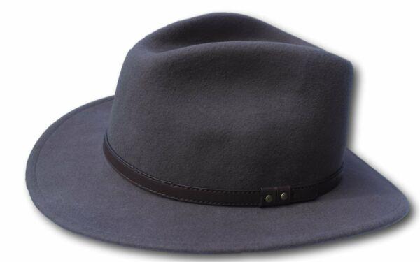 2019 Nuovo Stile High Quality Grey Wide Brim 100% Wool Felt Fedora Trilby Hat - X Large Il Consumo Regolare Di Tè Migliora La Salute