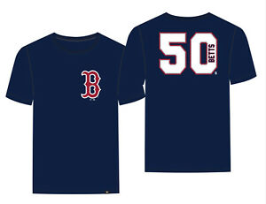 huge discount 74a6a 7f322 Details about Boston Red Sox Mookie Betts '47 Brand Navy Blue Super Rival  Jersey T-Shirt