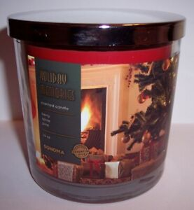 NEW! Kohls Sonoma Christmas 2020 HOLIDAY MEMORIES 3 Wick Jar