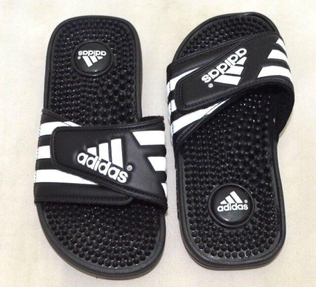 65c2b01e82c9 Adidas Adissage Sandal 078285 K Black White US Size 5 - FREE SHIPPING  -BRAND NEW