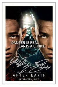 WILL-amp-JADEN-SMITH-AFTER-EARTH-SIGNED-PHOTO-PRINT-AUTOGRAPH-POSTER