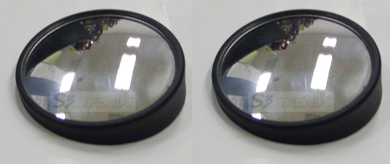 """2"""" Round 360 Adjustable Blind Spot Mirror Wide Angle Convex 2 PCS Stick-on USA"""