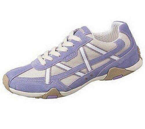 GEOX Sneaker NEU Damen Schuhe Gr.36-37 Leder Lila/Weiß Schnürer