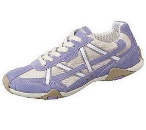 Details zu GEOX Sneaker Damen Schuhe Gr.36 NEU Leder Lila Weiß Schnürer Low Top UK 3,5