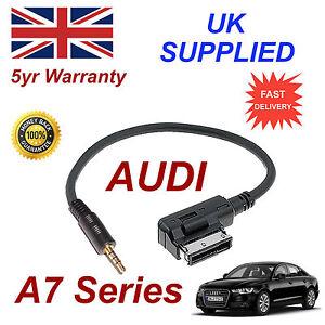 AUDI-A7-Series-ami-mmi-4f0051510f-Musica-Interfaz-Jack-de-3-5mm-Entrada-Cable