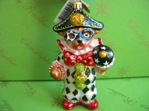 Chrisopther Radko Teddy Masquerade Ornament