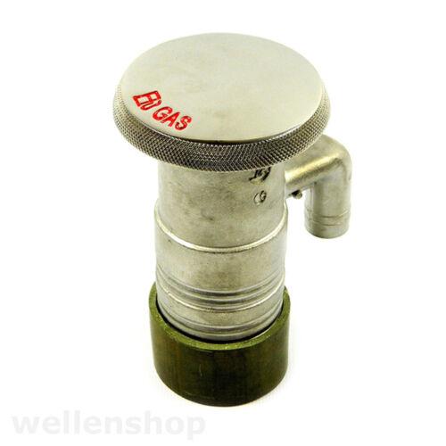 Entlüfter Tank Tankstutzen Benzineinfüllstutzen Edelstahl mit Tankdeckel inkl
