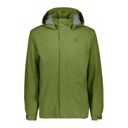 CMP lluvia chaqueta chaqueta Man Jacket buttons Hood verde viento densamente impermeable ripstop