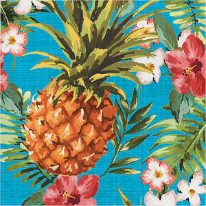 Image is loading 16-x-Hawaiian-Napkins-Tropical-Pineapple-Luau-Party-  sc 1 st  eBay & 16 x Hawaiian Napkins Tropical Pineapple Luau Party Napkins Party ...
