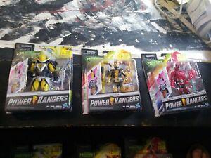 Power Rangers Beast Morphers red ranger-Gold Ranger-Evox -Lot of 3 Figures NEW!!