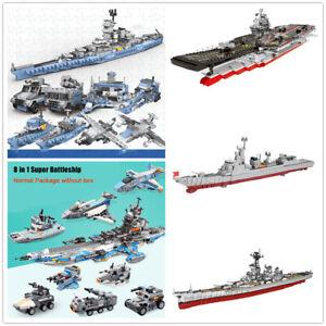 8-In-1-MOC-Building-Blocks-Aircraft-Carrier-Missle-Destroyer-Kids-Toys-Bricks