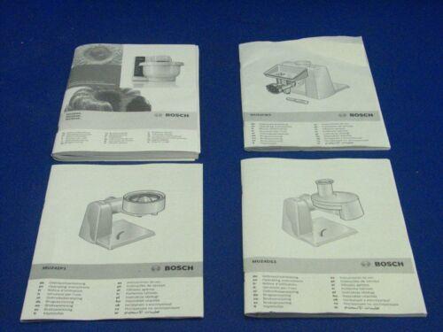 Bedienungsanleitung Bosch MUM4880 Küchenmaschine