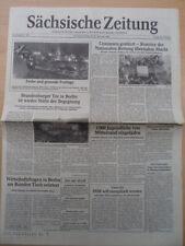 Sajona periódico 23./24. diciembre 1989 sábado/domingo Dresden ceausescu