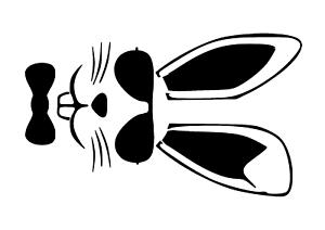 """Galería de símbolos /""""conejo de pascua con gafas/"""" en a4"""
