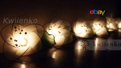 20 Rain Lilly Flower String Lights Fairy Wedding Party Bedroom Light Living Room