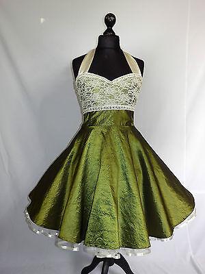 Petticoatkleid Rockabilly Abiball Konfirmations Abend Kleid Dress Maßanfertigung