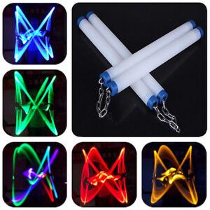 Glowing-Nunchuck-Nunchaku-Nunchuk-LED-Light-Kung-Fu-Performance-Training-Toy