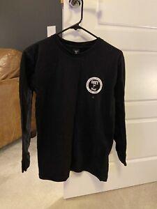 Obey Posse Manches Longues T Shirt Top Noir Unisexe Petit S skateboard streetwear