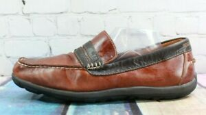 LL-BEAN-Allagash-Handsewn-Men-039-s-Brown-Leather-Penny-Driving-Loafers-Size-12-M