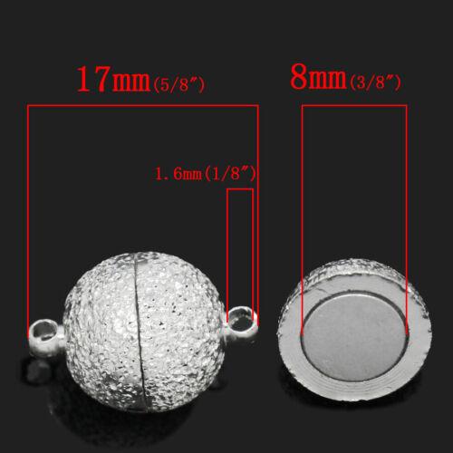 NELLYS 1  Power Magnetverschluss Schließen 12mm Metall rund  silber