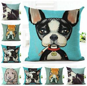 Home-Decor-Cotton-Linen-Throw-Pillow-Case-Lovely-Dogs-Sofa-Cushion-Cover-Square