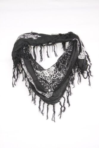 S85 Black /& White Paisley Square Shaped Scarf Suitable For All Occasions