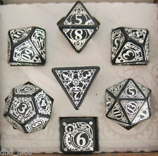 Q-Workshop Steampunk Black & White Dice Set of 7 D&D